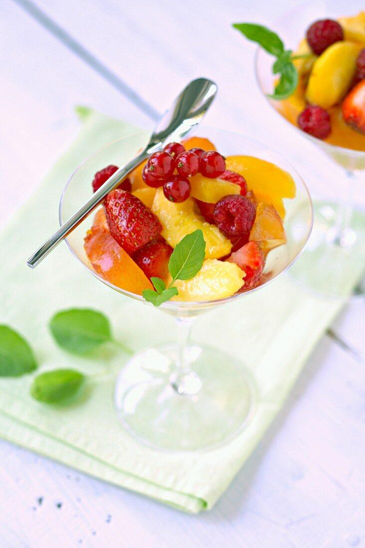Mixed summer fruit salad