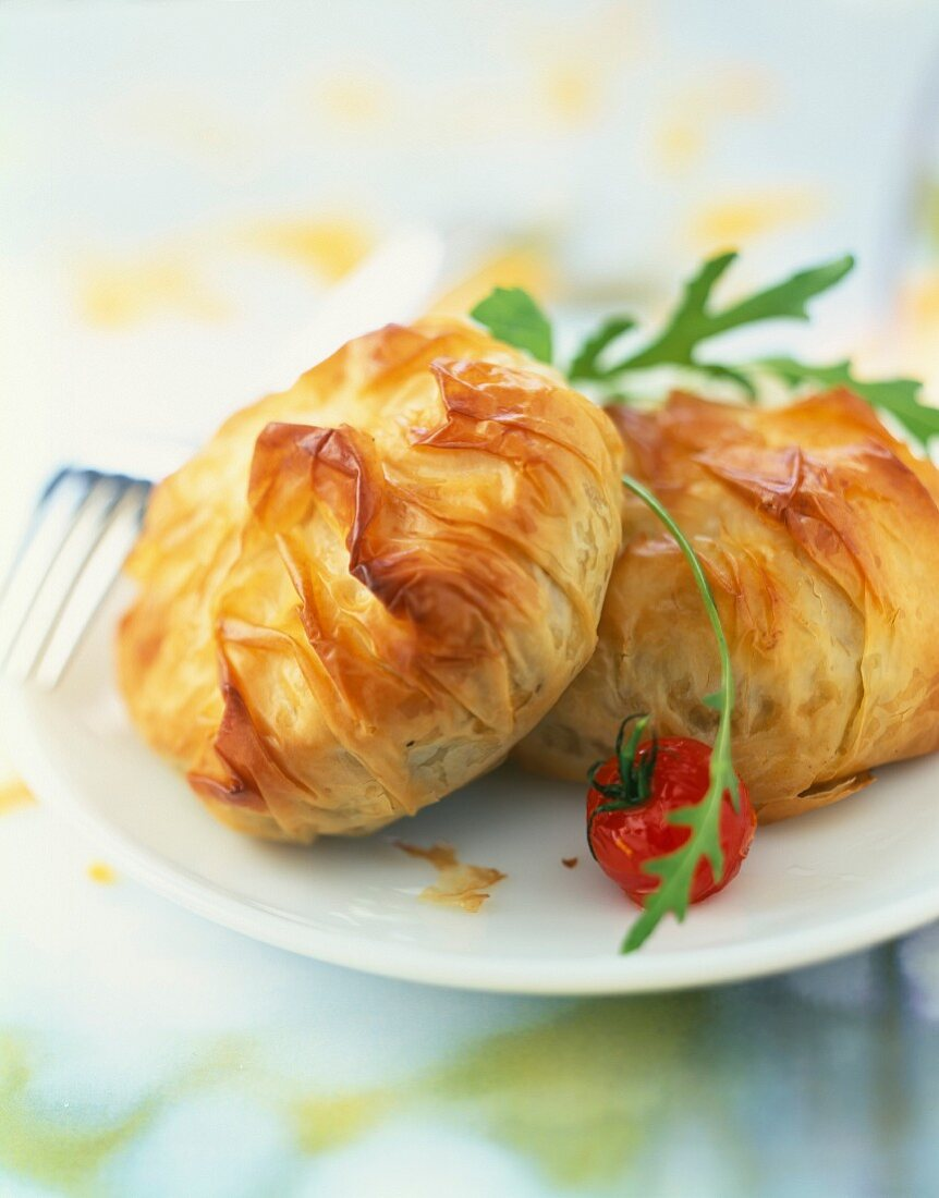 Flaky pastry cheese pies