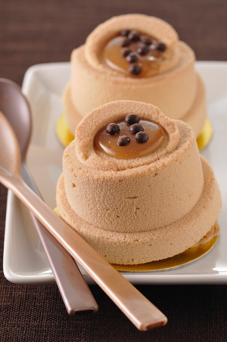 Chestnut mousse and chocolat dessert from Ardèche
