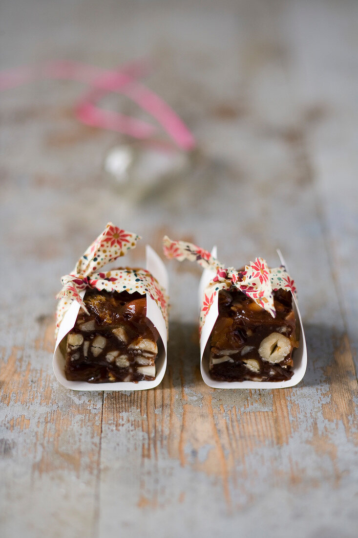 Chocolate and hazelnut toffee