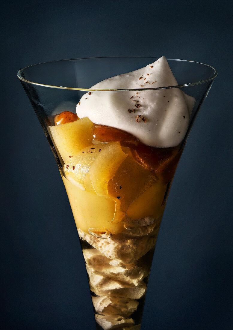 Pear and cream dessert