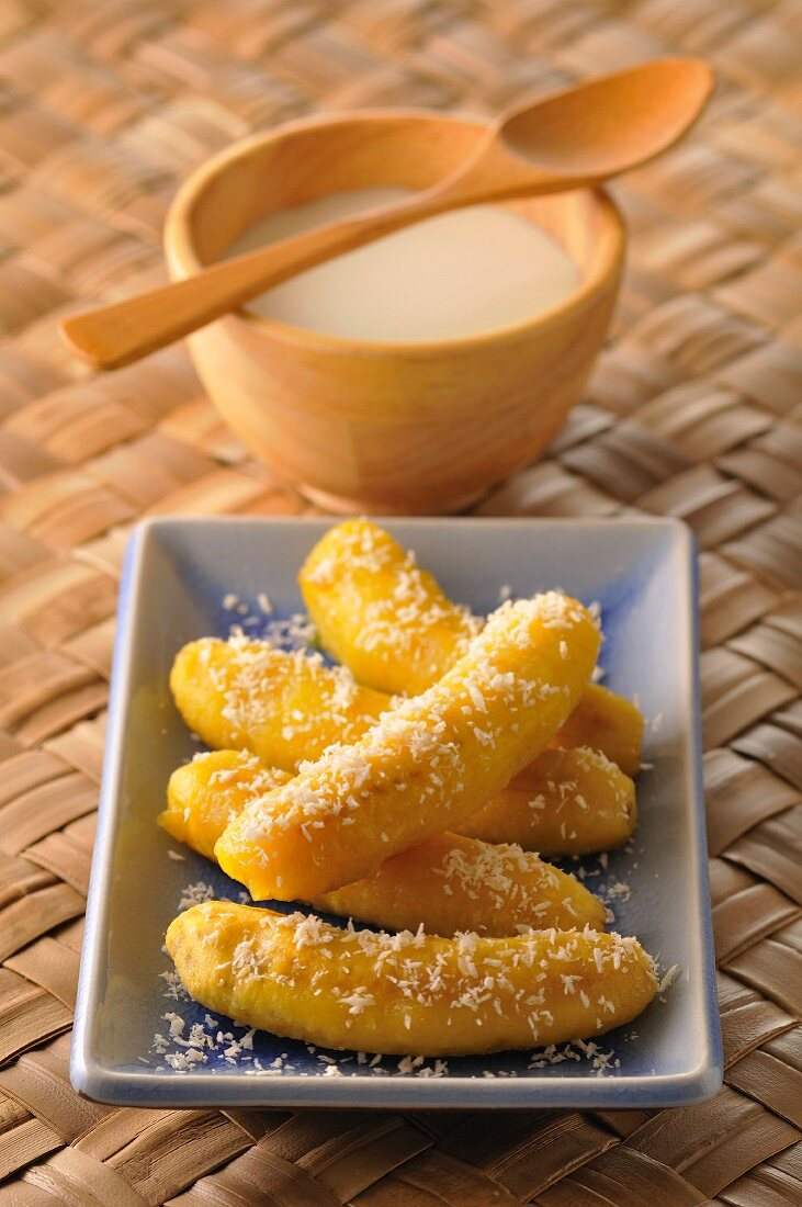 Sweet bananas with coconut