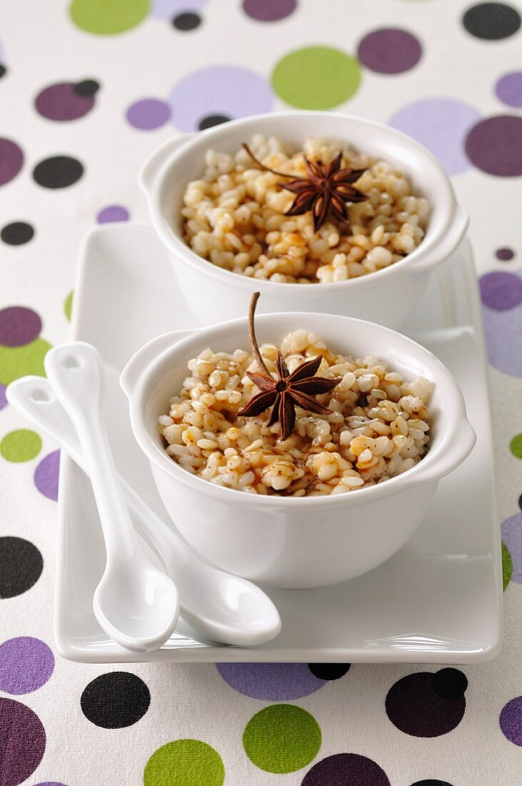 Salted-butter toffee-flavored rice pudding