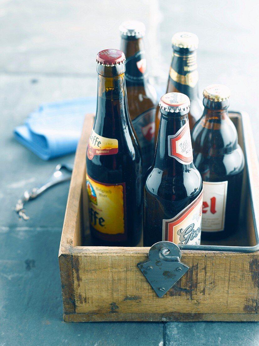 Crate of bottles of beer