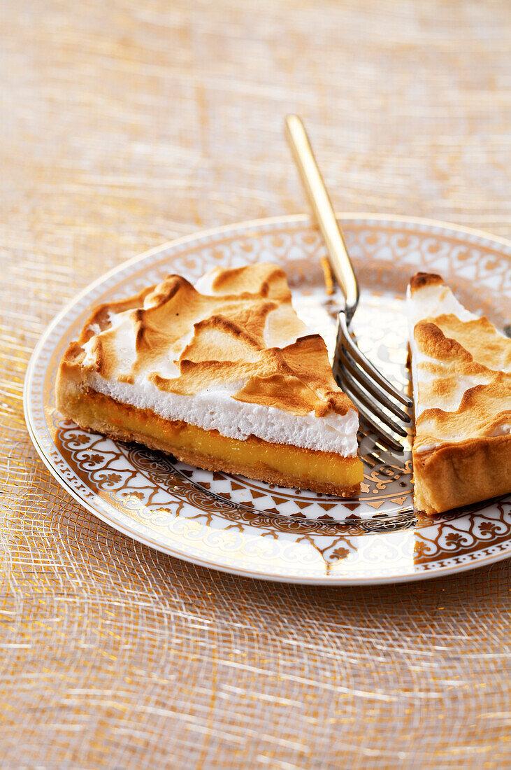 Orange meringue tart