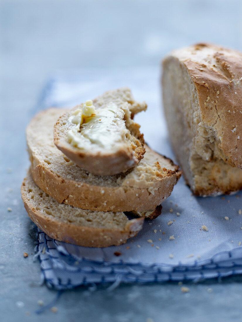 Oat meal,honey and fermented milk Irish bread