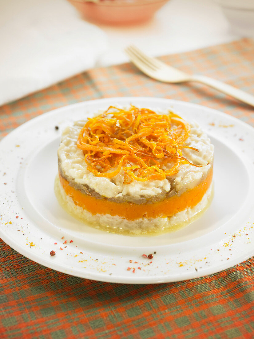 Risotto and squash Timbale