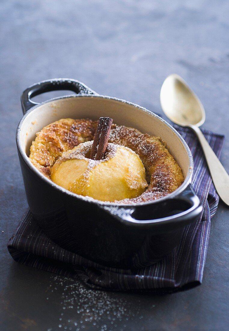 Apple and cinnamon soufflé