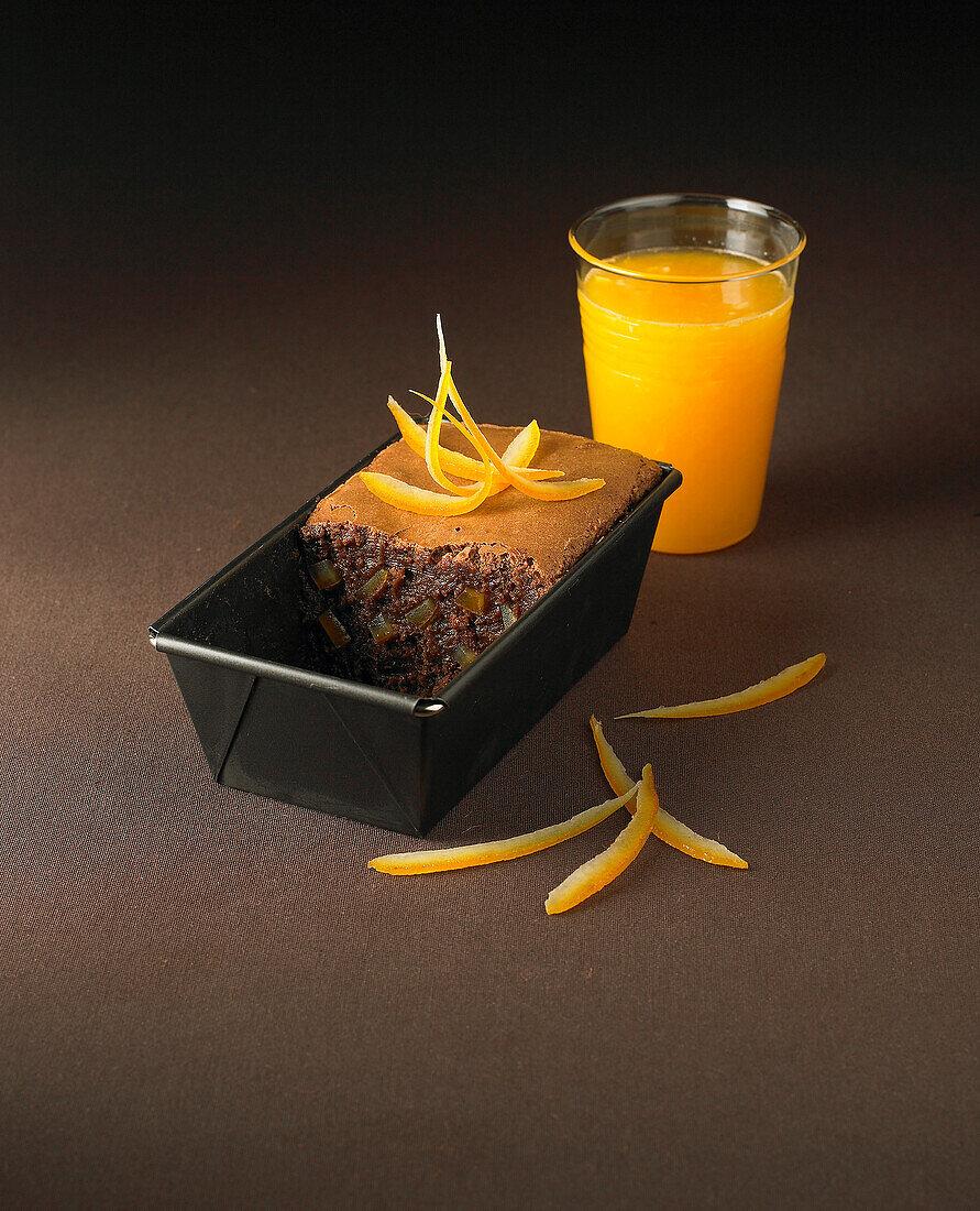 Chocolate and candied orange fondant