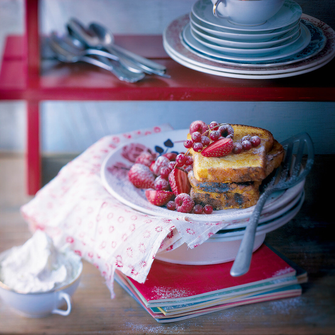 French toast-style brioche with summer fruit