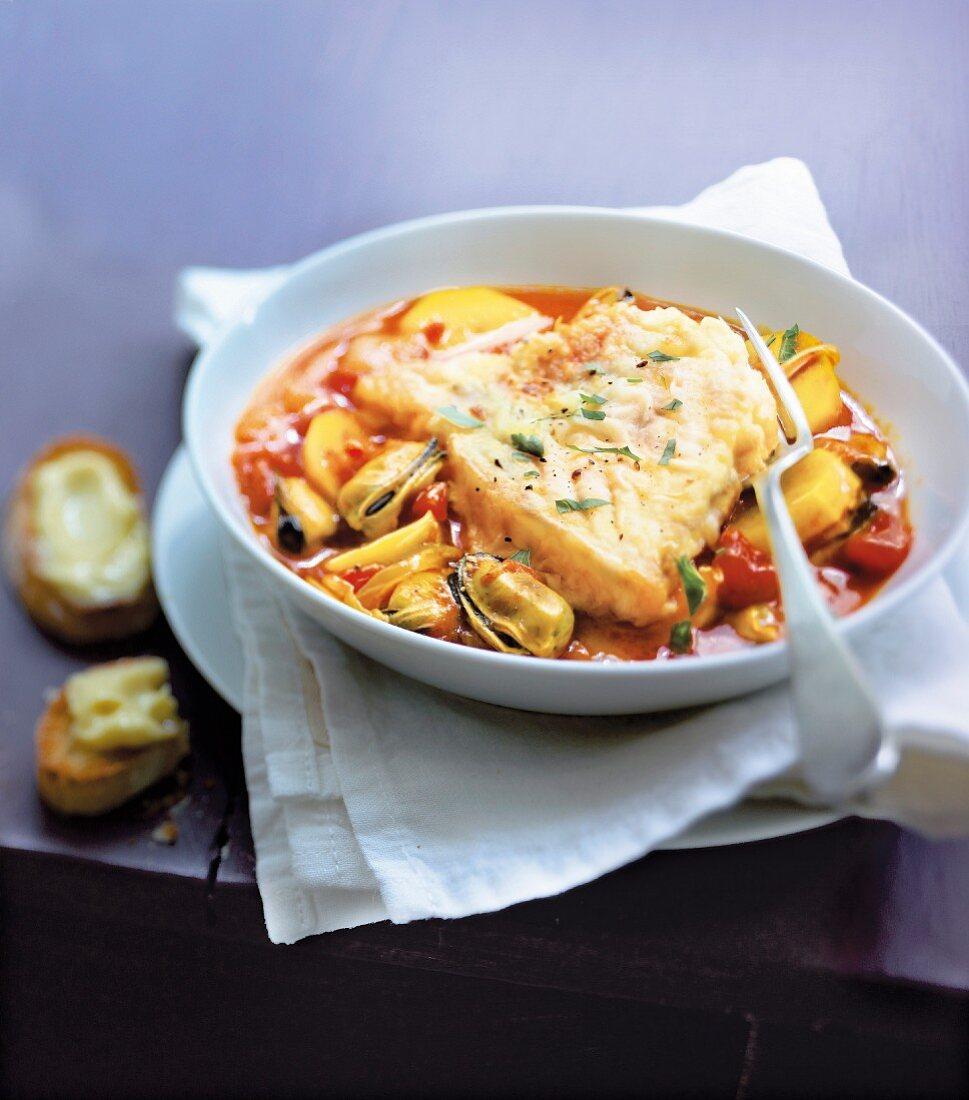 Salt- cod Bouillabaisse