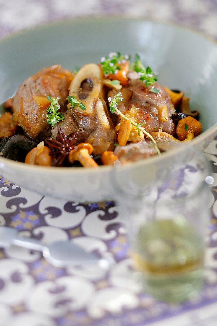 Moroccan autumn vegetable and mushroom Tajine