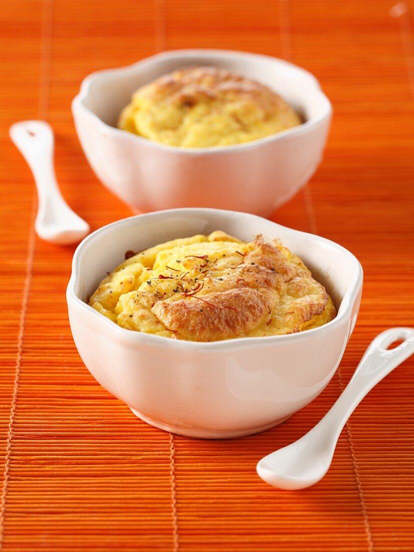 Petoncle scallop and saffron mousse