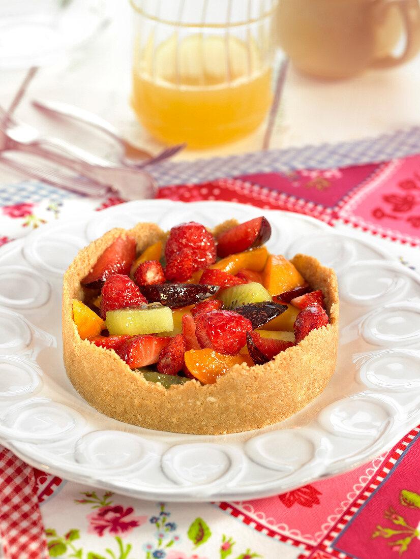 Tutti frutti tart