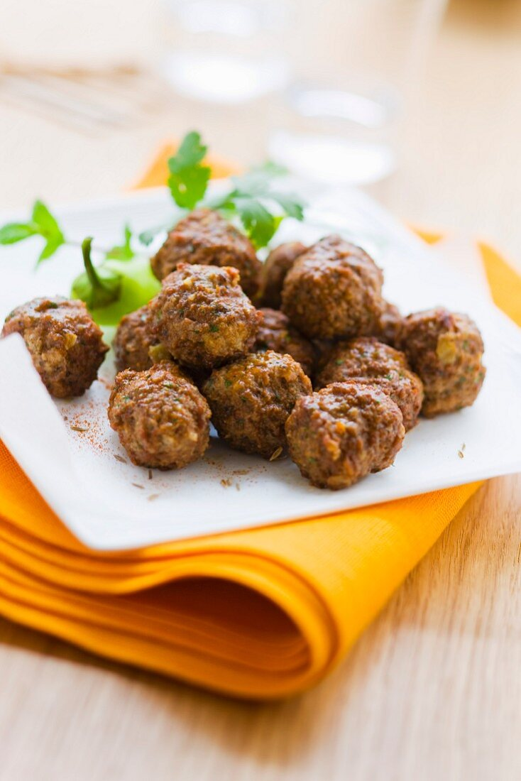 Kafta lamb meatballs