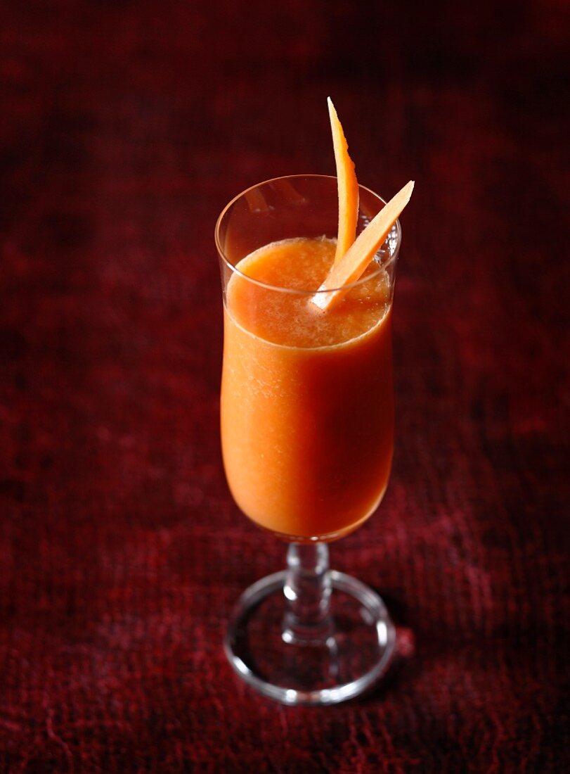 Carrot,melon and lemon juice