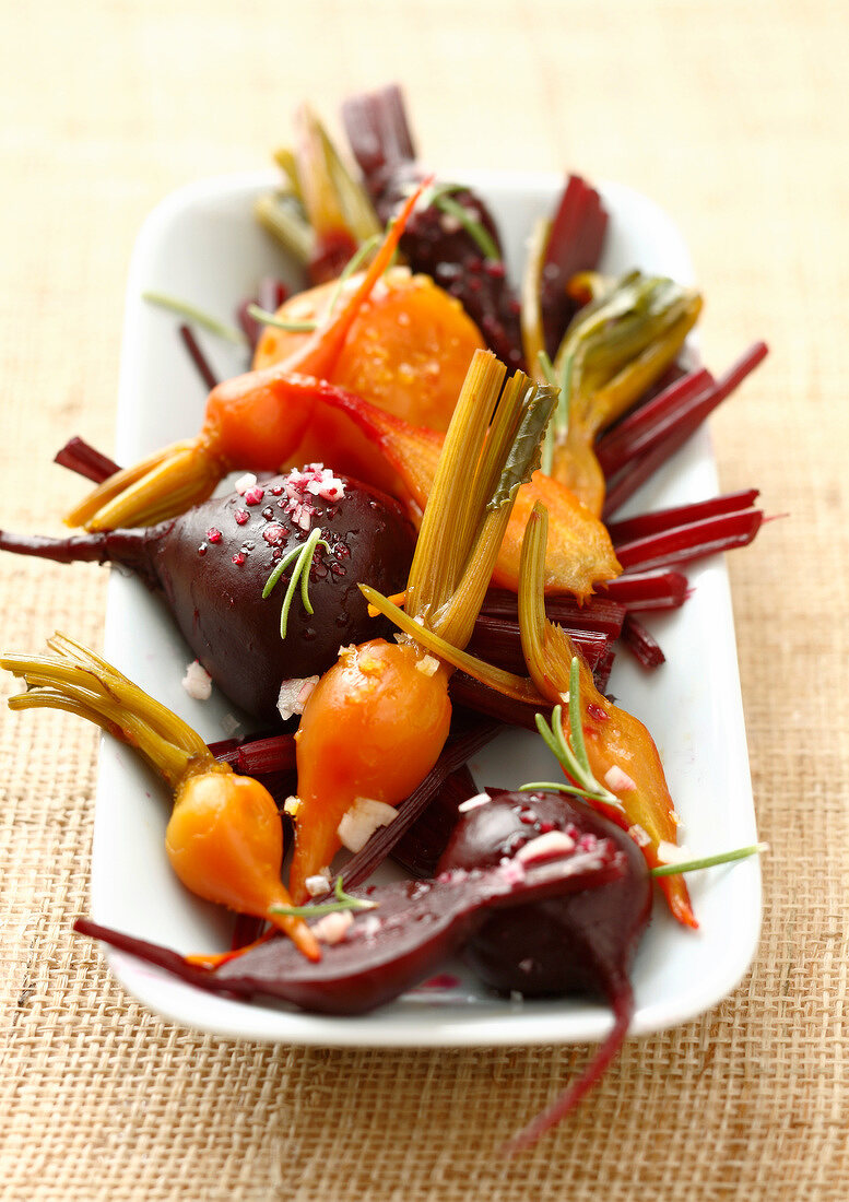 Steamed beetroots