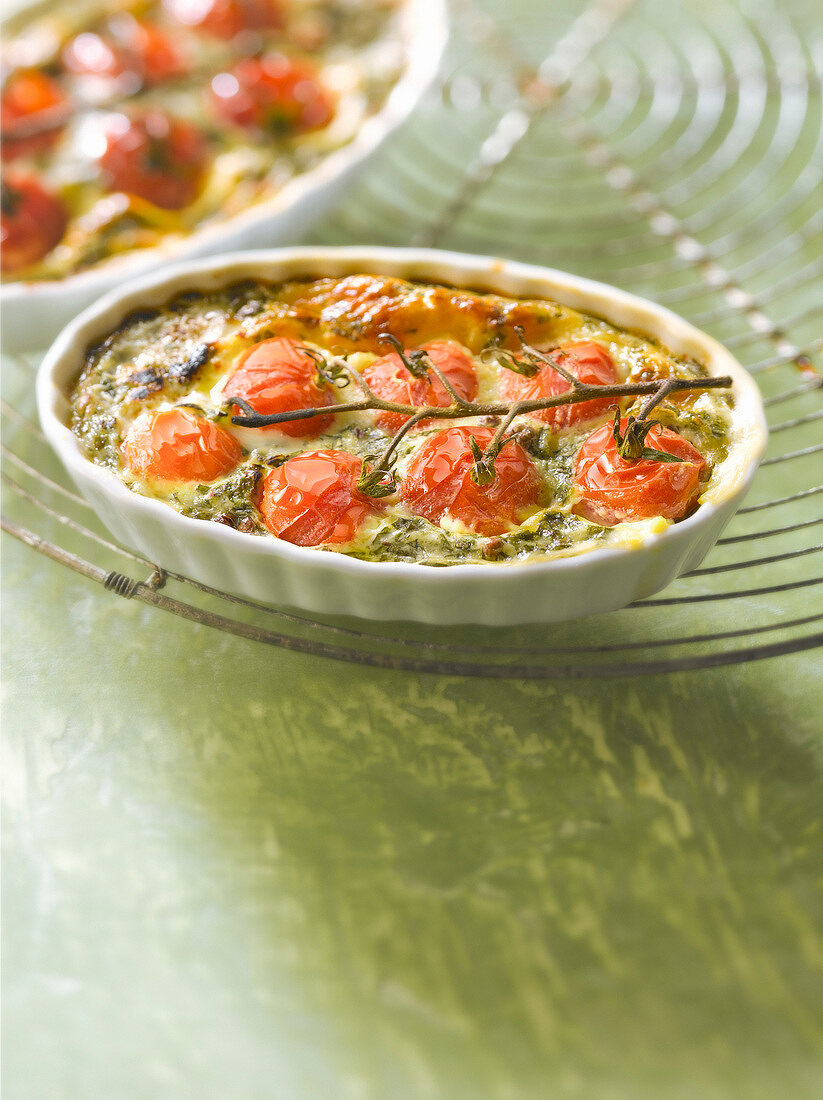 Beaufort and cherry tomato clafoutis