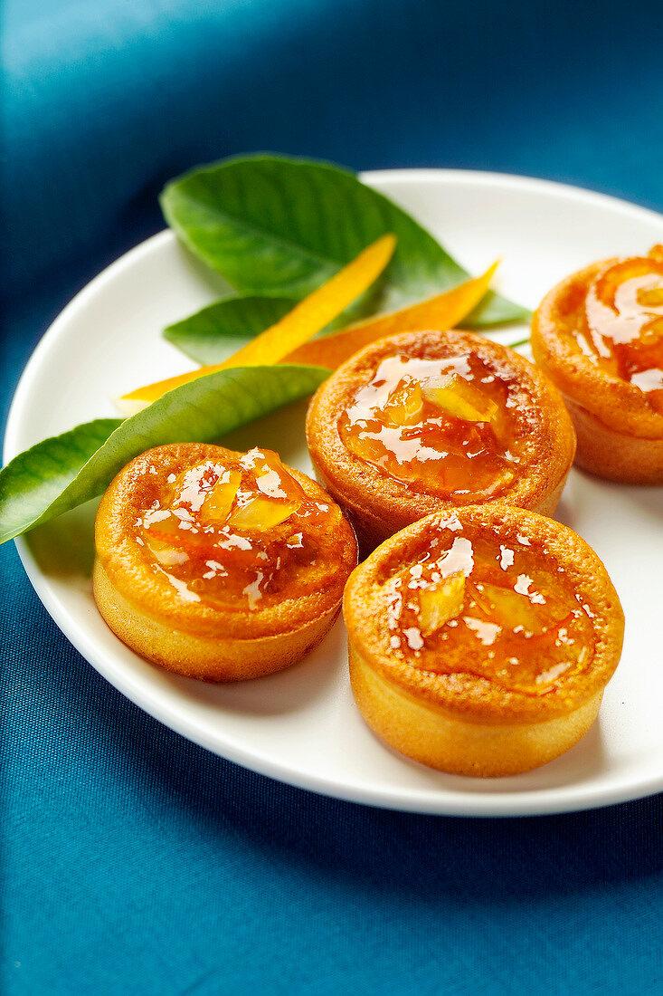 Confit orange moist mini cakes