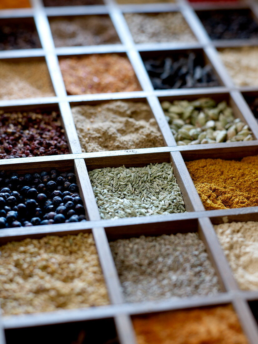Crate of spices