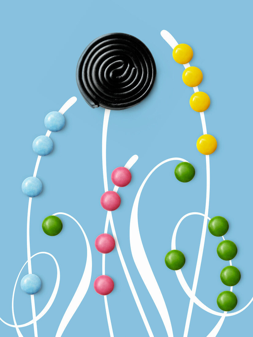 Composition with candies