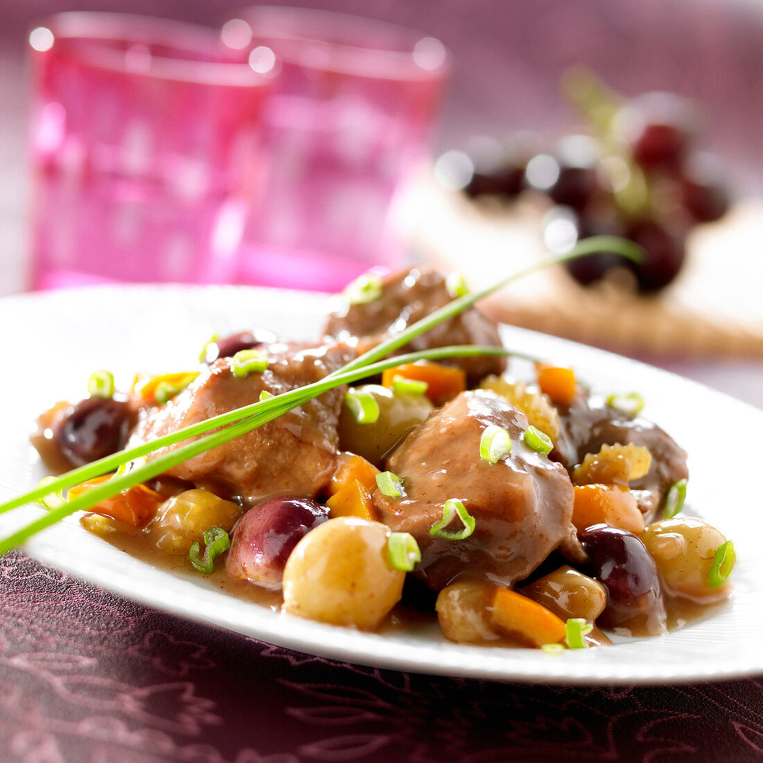 Daube with grapes
