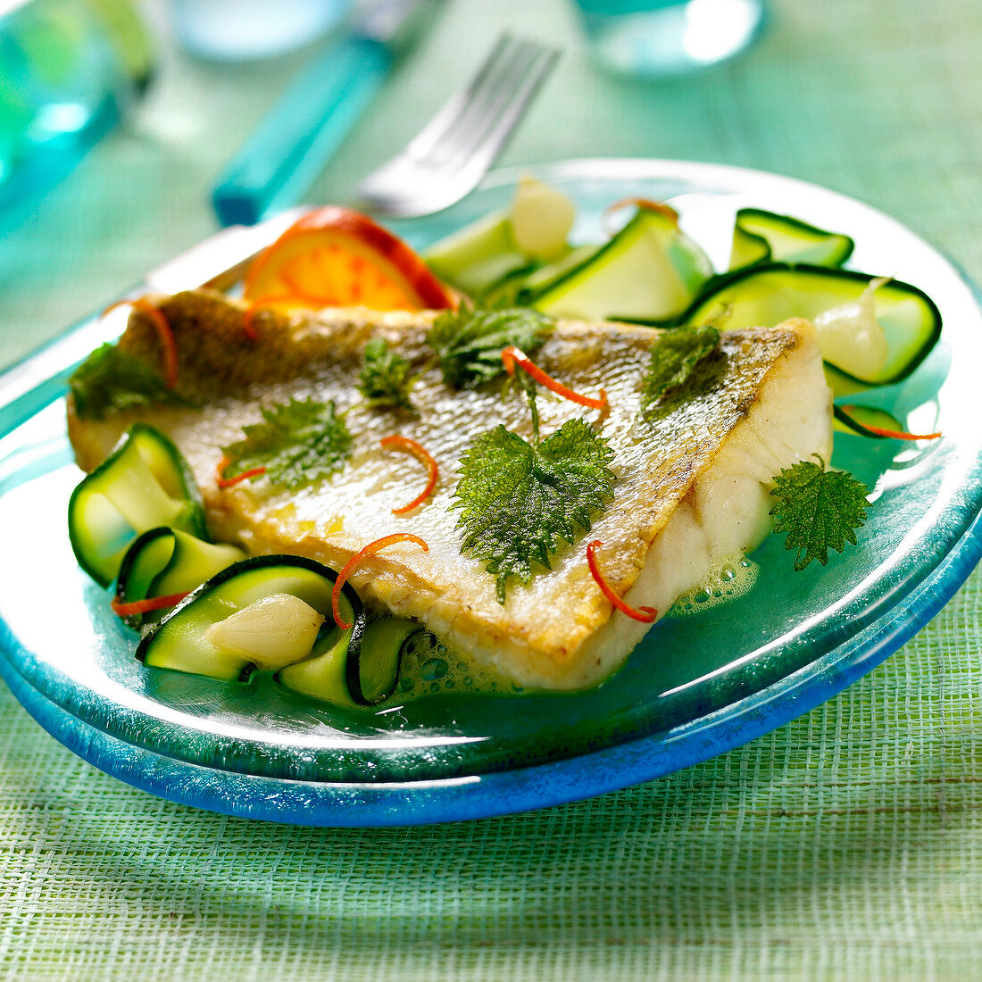 Pike-perch fillets with nettles