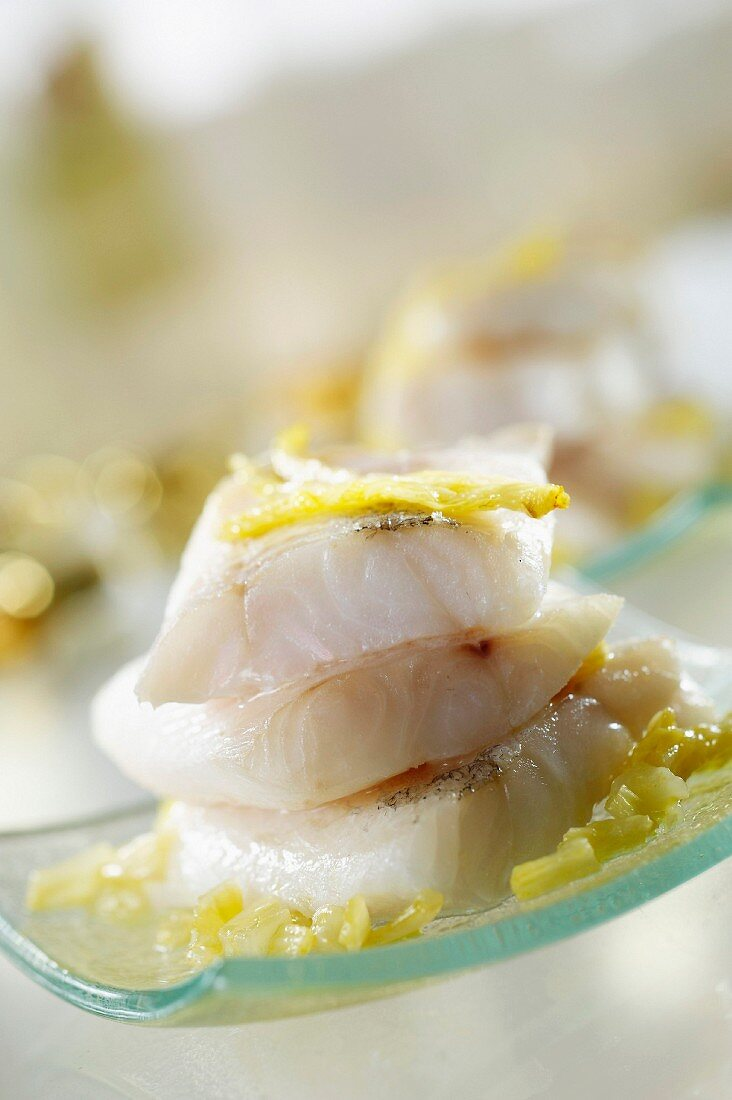 Pollock with fennel and butter from Pontarlier