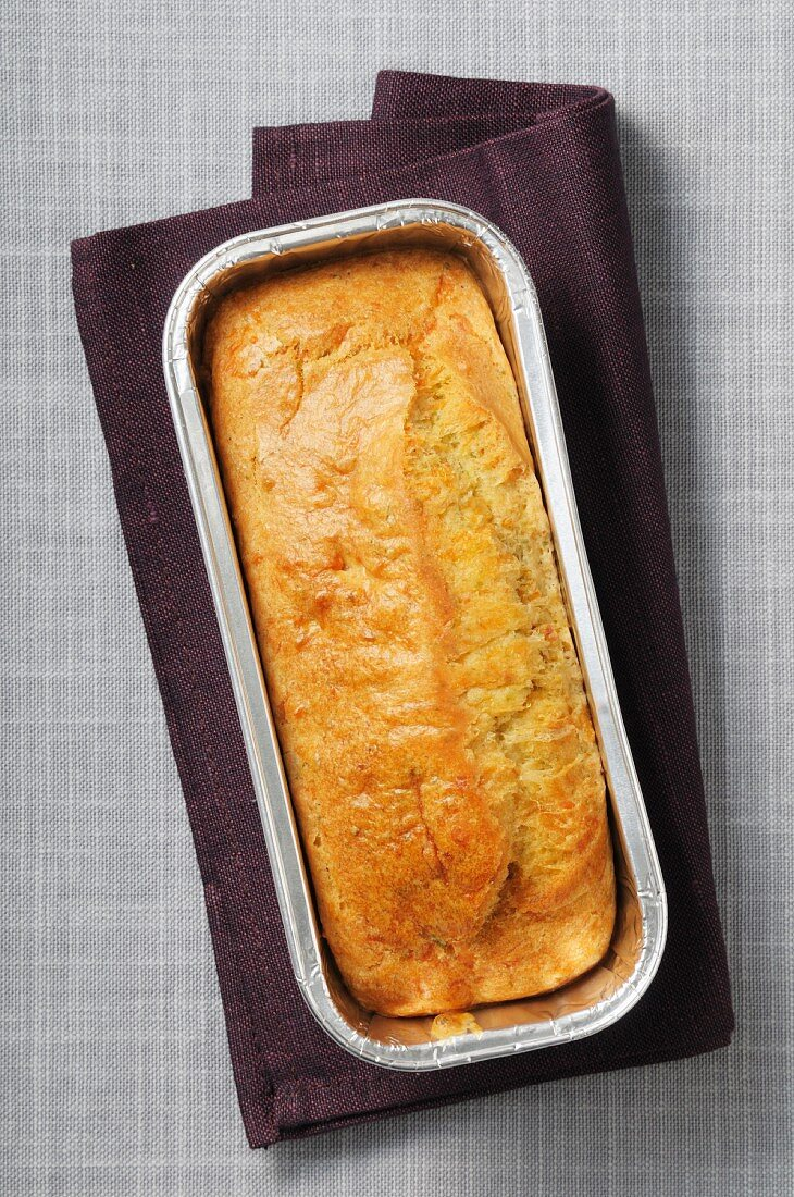 Loaf cake in an aluminium mould