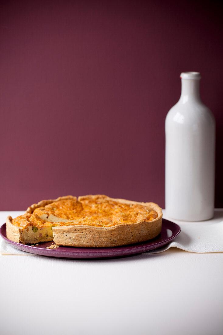 Quiche Lorraine-style savoury tart