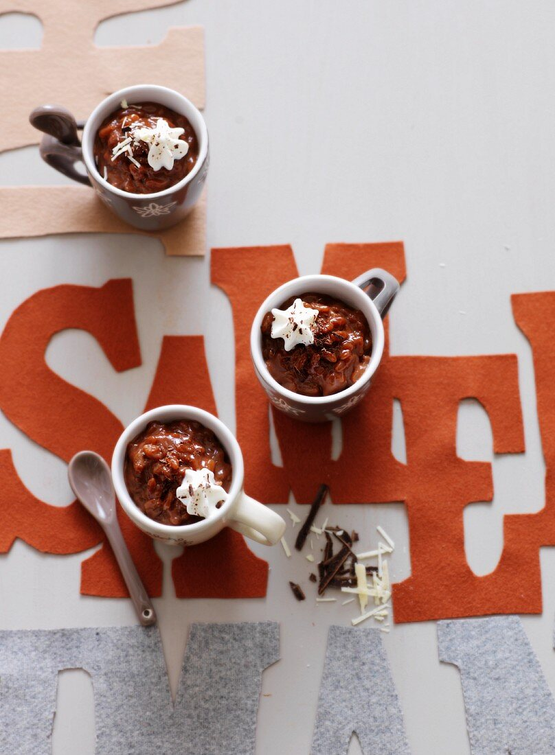 Chocolate and coffee risotto