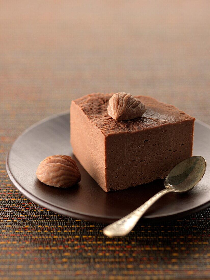 Slice of Turin-style chestnut cake