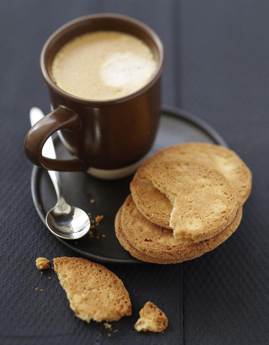 Lemon rich tea biscuit shortbreads
