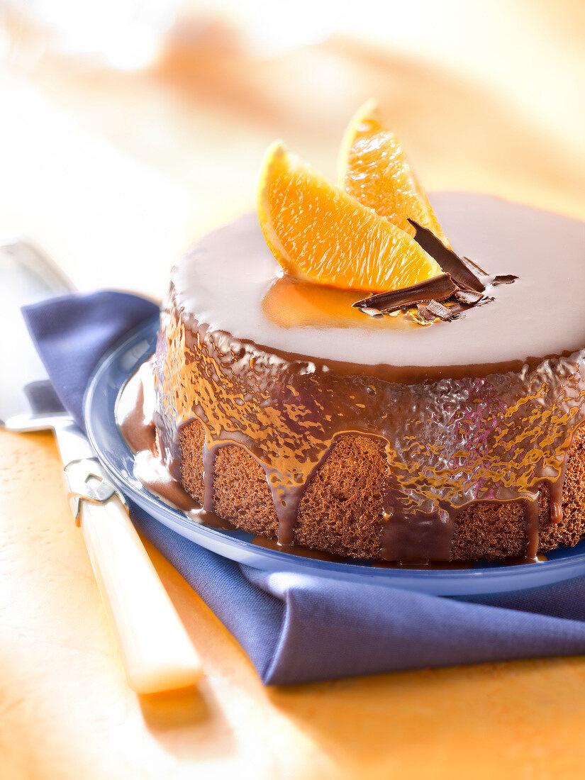 Chocolate and orange moist cake