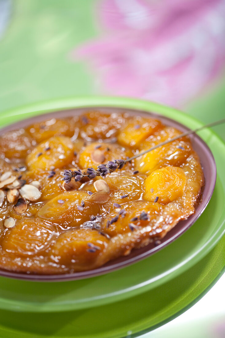 Apricot,lavander and almond tart