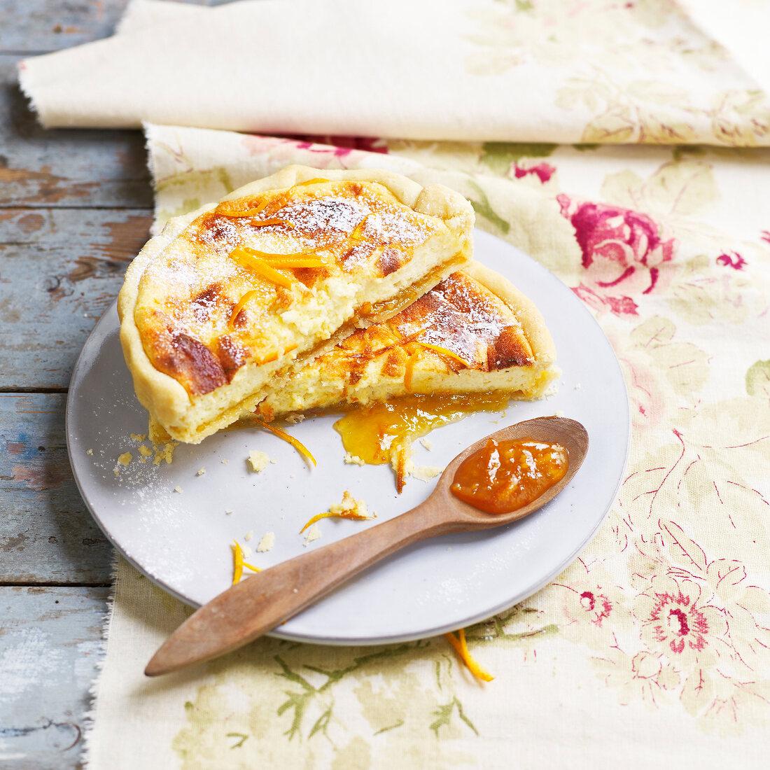 Ricotta and orange pie