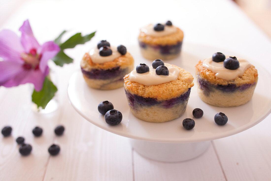 Magic blueberry cupcakes