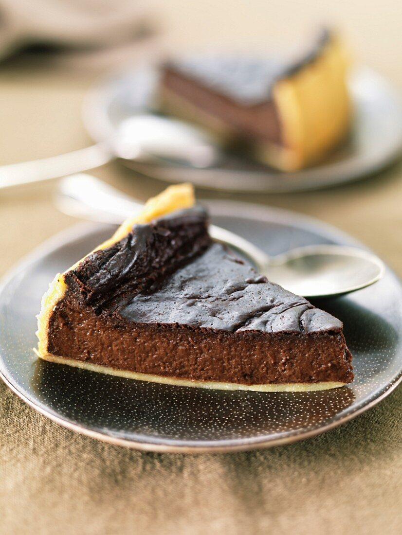 Flan au chocolat ( Sujet : Tout chocolat )