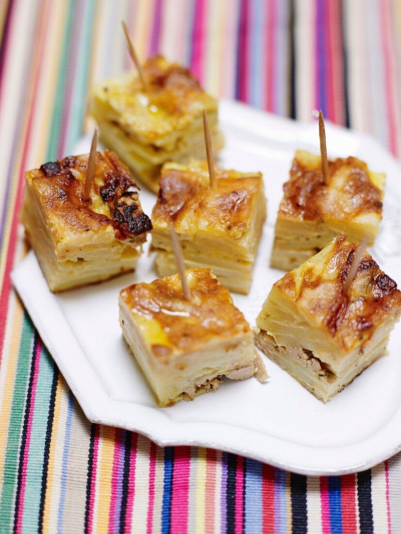 Tortilla with foie gras and Szechuan pepper