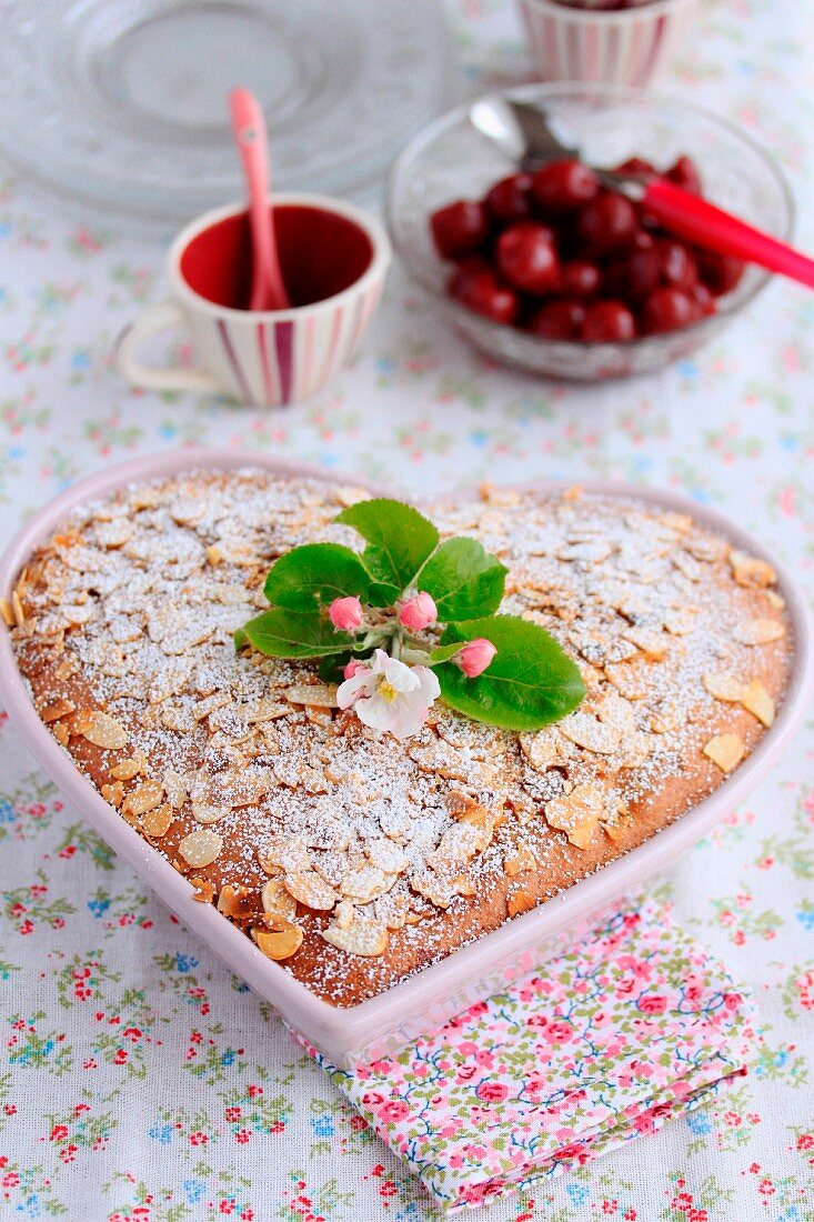 Mother's Day sour griotte cherry and almond cake