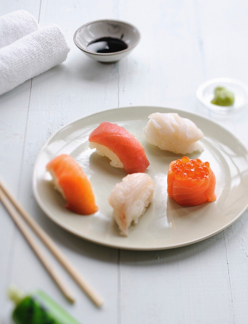 Plate of sushis