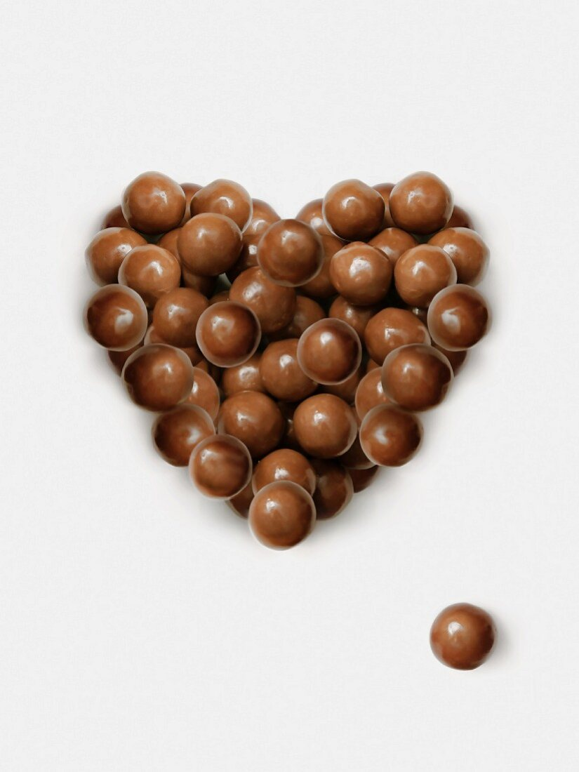 Herz aus Malteserbonbons