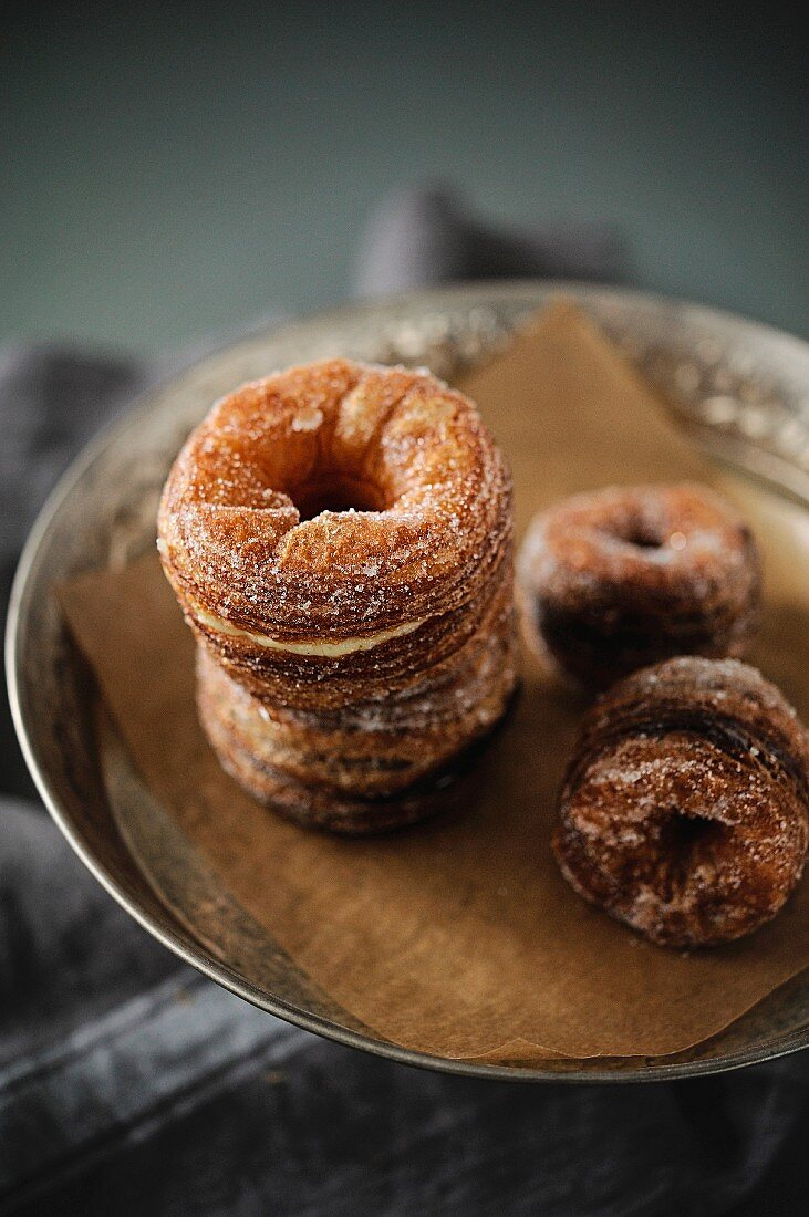 Vanilla and chocolate Cronuts