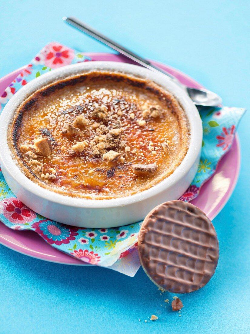 Granola biscuit Crème brûlée