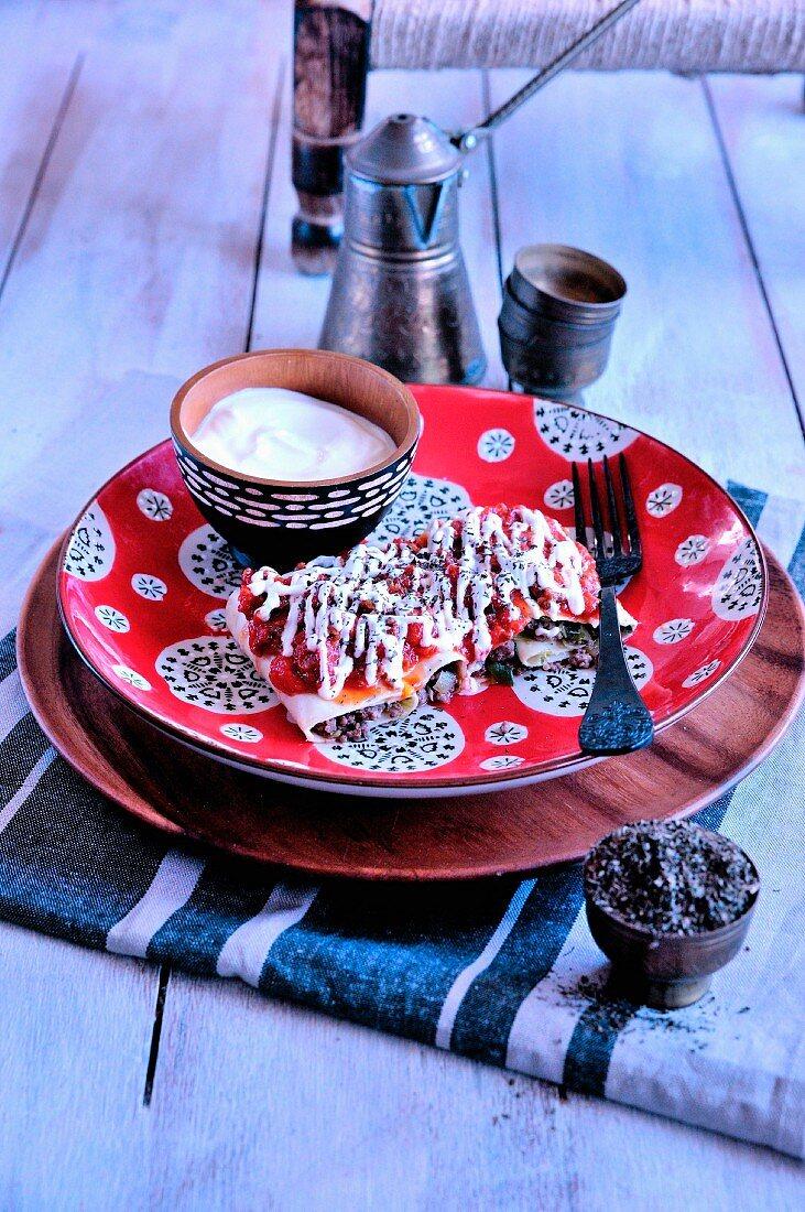 Ashak (afghanische Lasagne)