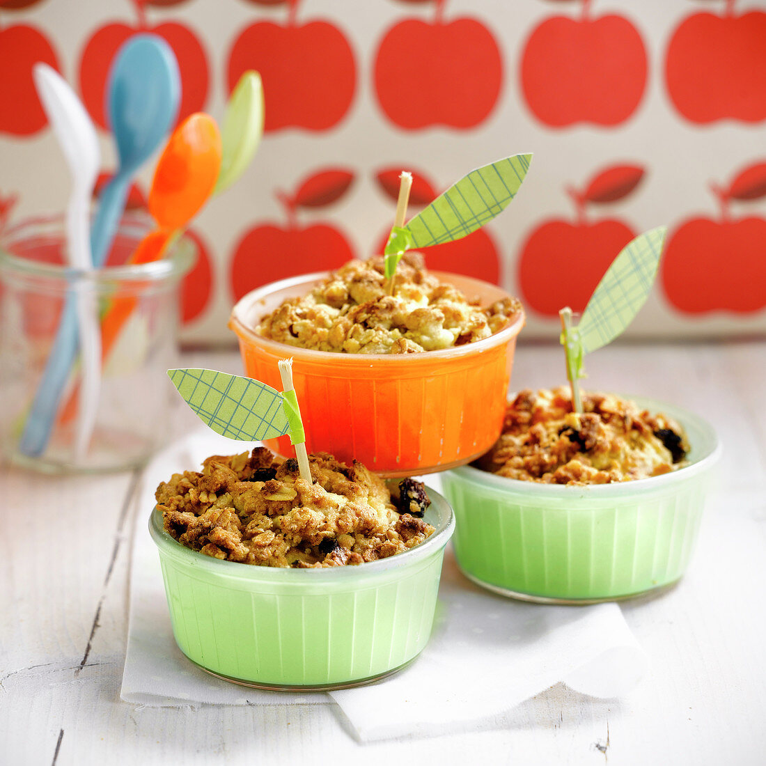 Small apple crumbles