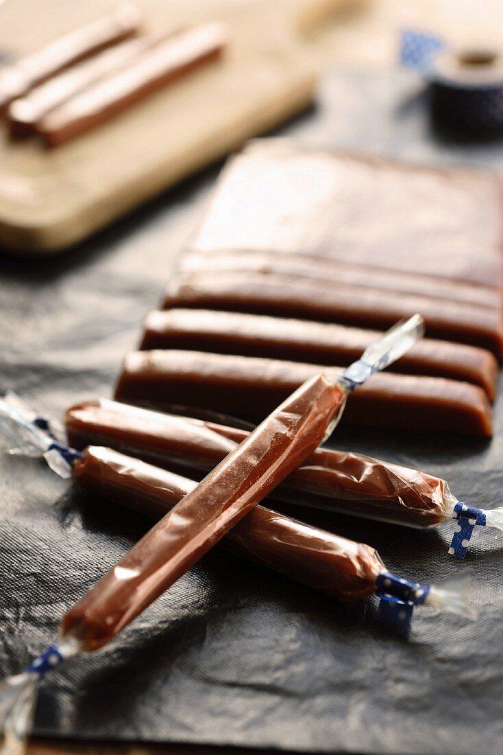Homemade Carambar sweets