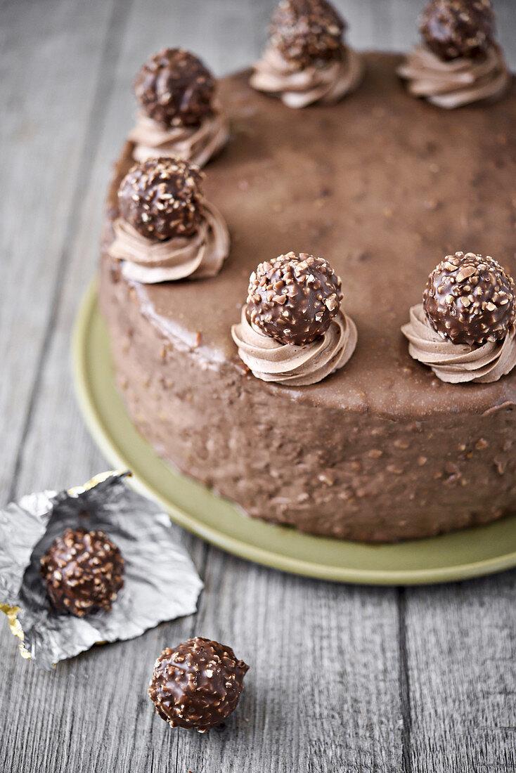 Rochers Ferrero chocolate cake
