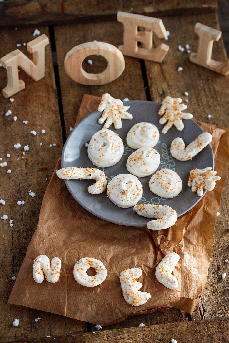 Christmas meringues