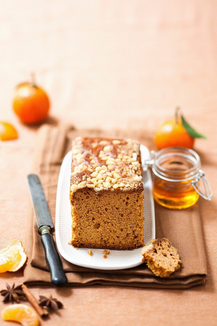Honey and mandarin orange gingerbread